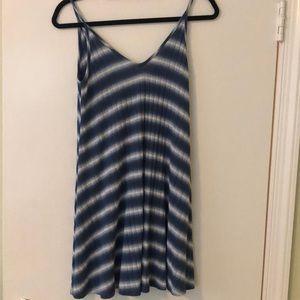 AQUA blue tie-dye summer dress